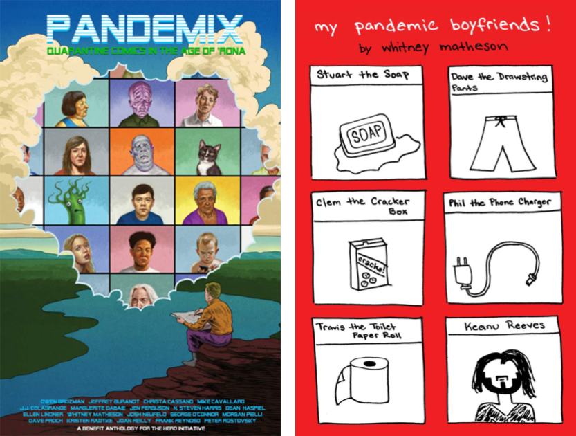 the cover and a comic from the pandemix anthology