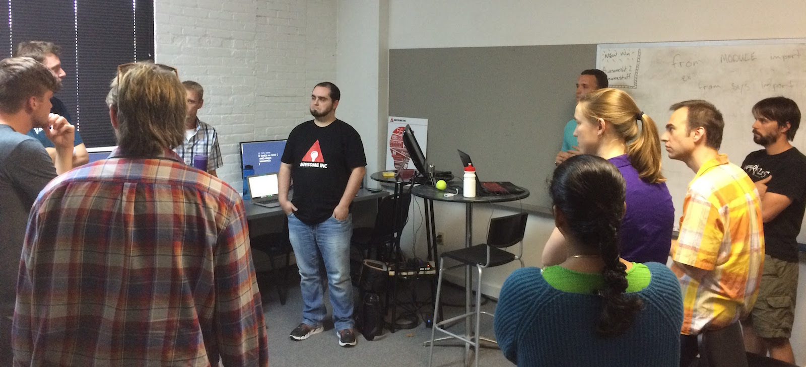 Web Developer Bootcamp standup meeting