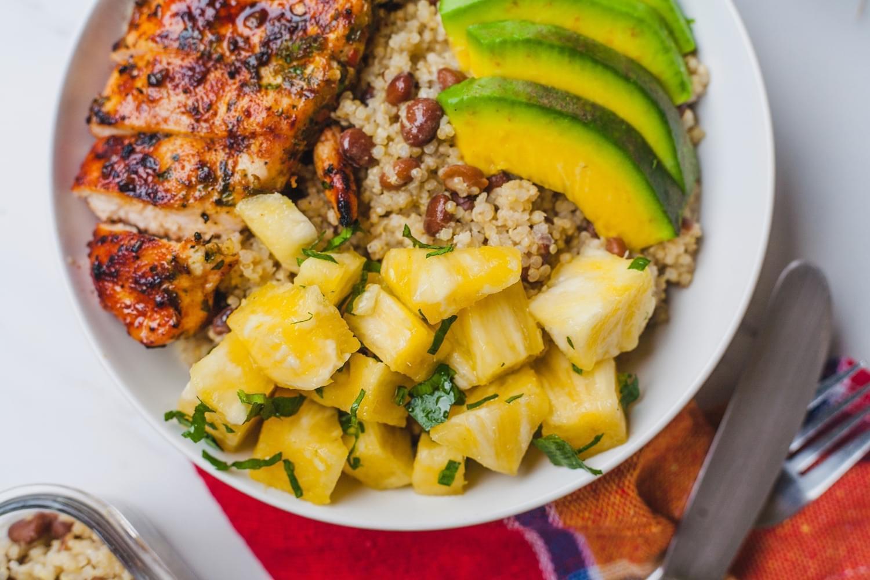 High Protein Caribbean Bowl