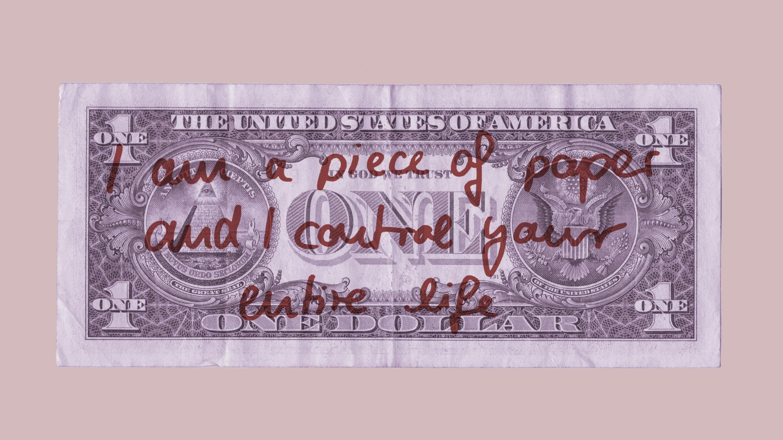 Ein Geldschein, der das ganze Leben kontrolliert