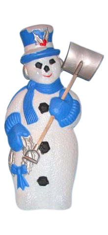 Snowman With Shovel photo