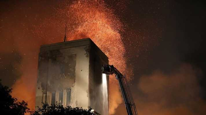Littlewoods fire: Flames rip through famous building in Liverpool