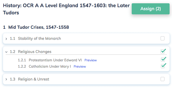 History: OCR A A Level England 1547-1603: the Later Tudors