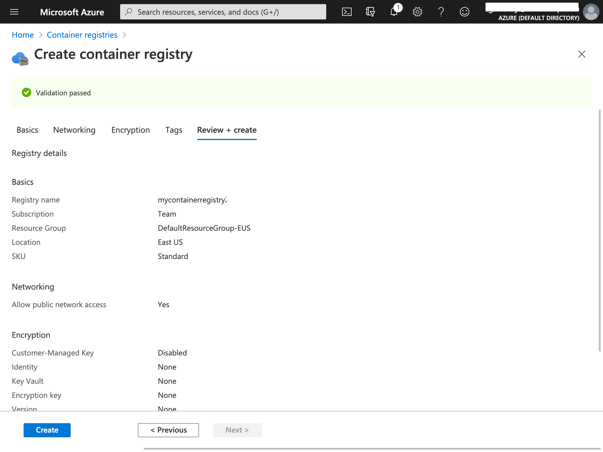 Azure Container Registry