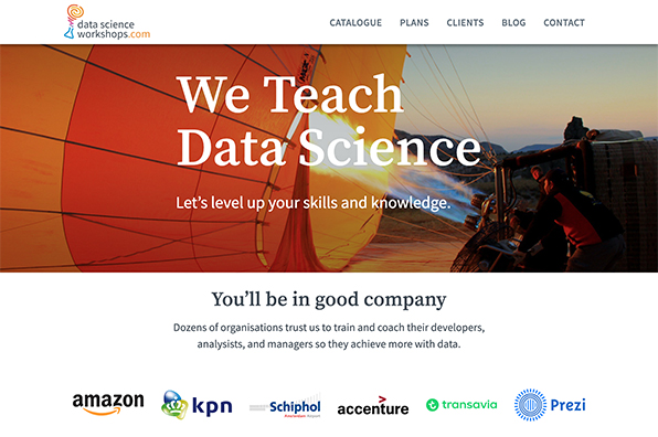 Screenshot of Data Science Workshops