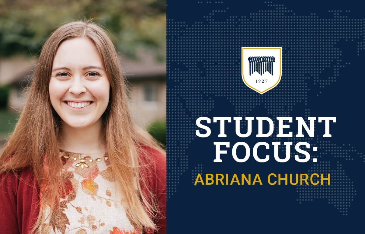 Student Focus: Abriana Church image