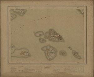 Sheet 14 showing islands like Pulau Bukom and Semakau off the west coast of mainland Singapore 1924
