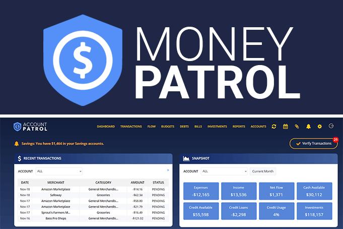 A screenshot of the MoneyPatrol app