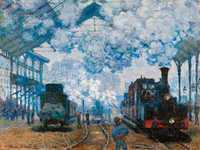 'Gare Saint-Lazare' a series by Claude Monet is another example of painting daily life.