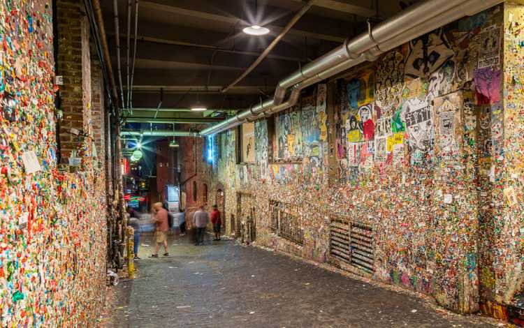 The infamous Gum Wall