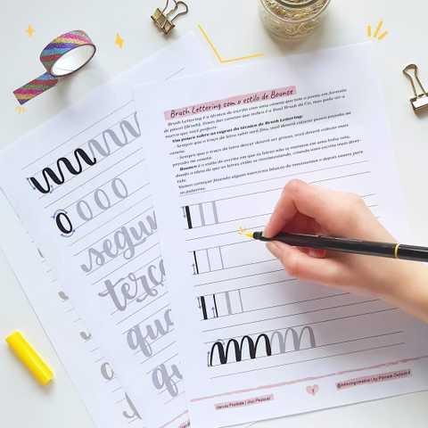 freebie brush lettering