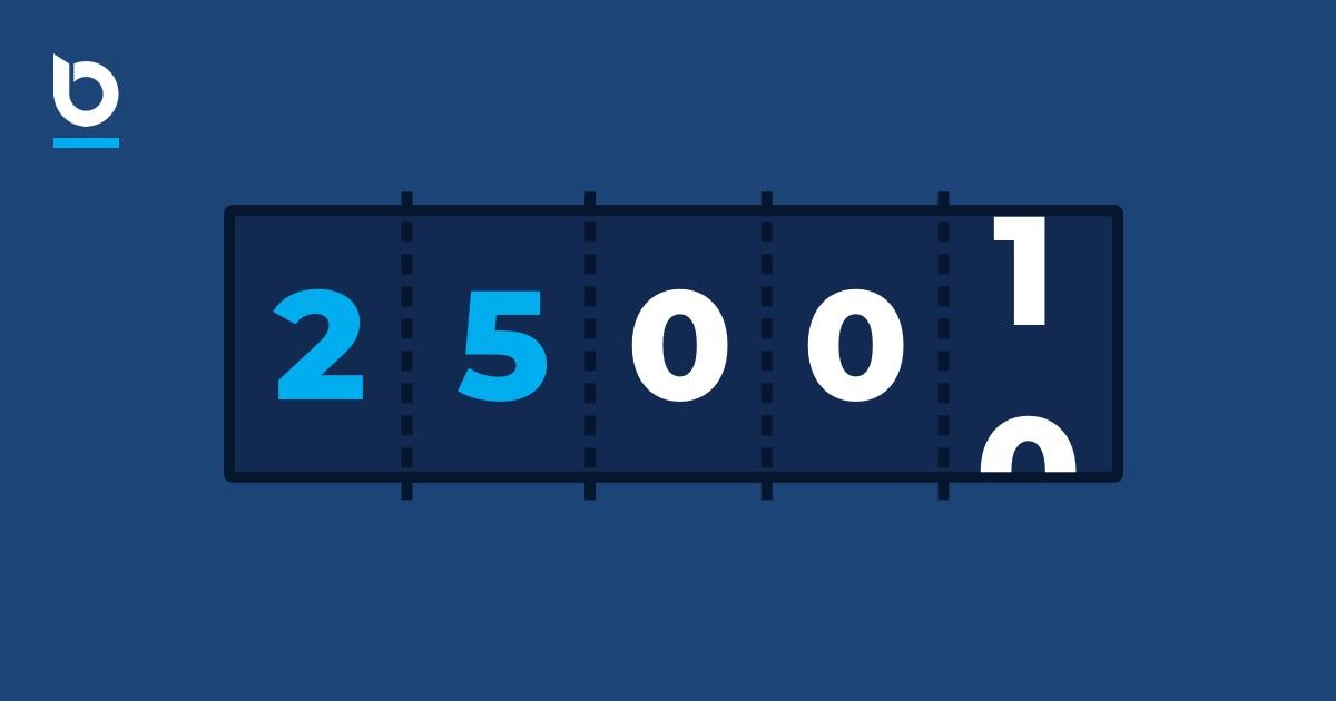 Celebrating 25k signups