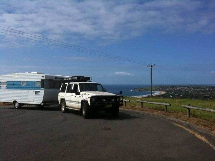 My old caravan and Pajero Truck