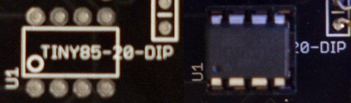 DIP socket location