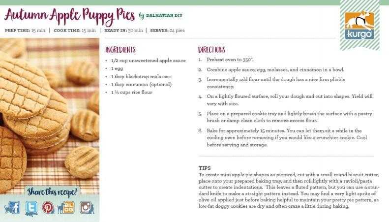 Holiday Recipe: Autumn Apple Puppy Pies