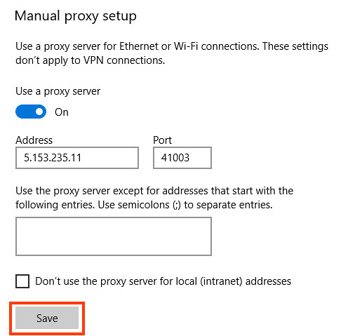 Step 7 how to use SOCKS5 proxies in Microsoft Edge browser