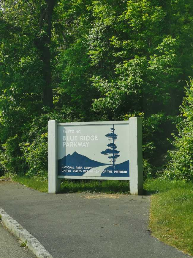 Blue ridge parkway post