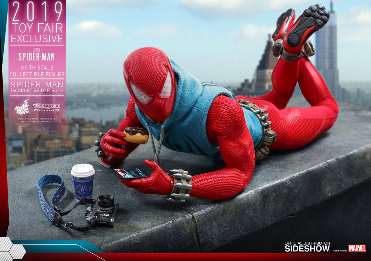 Hot Toys Marvel's Spider-Man VGM34 Spider-Man (Scarlet Spider Suit) 1/6th Scale Collectible Figure