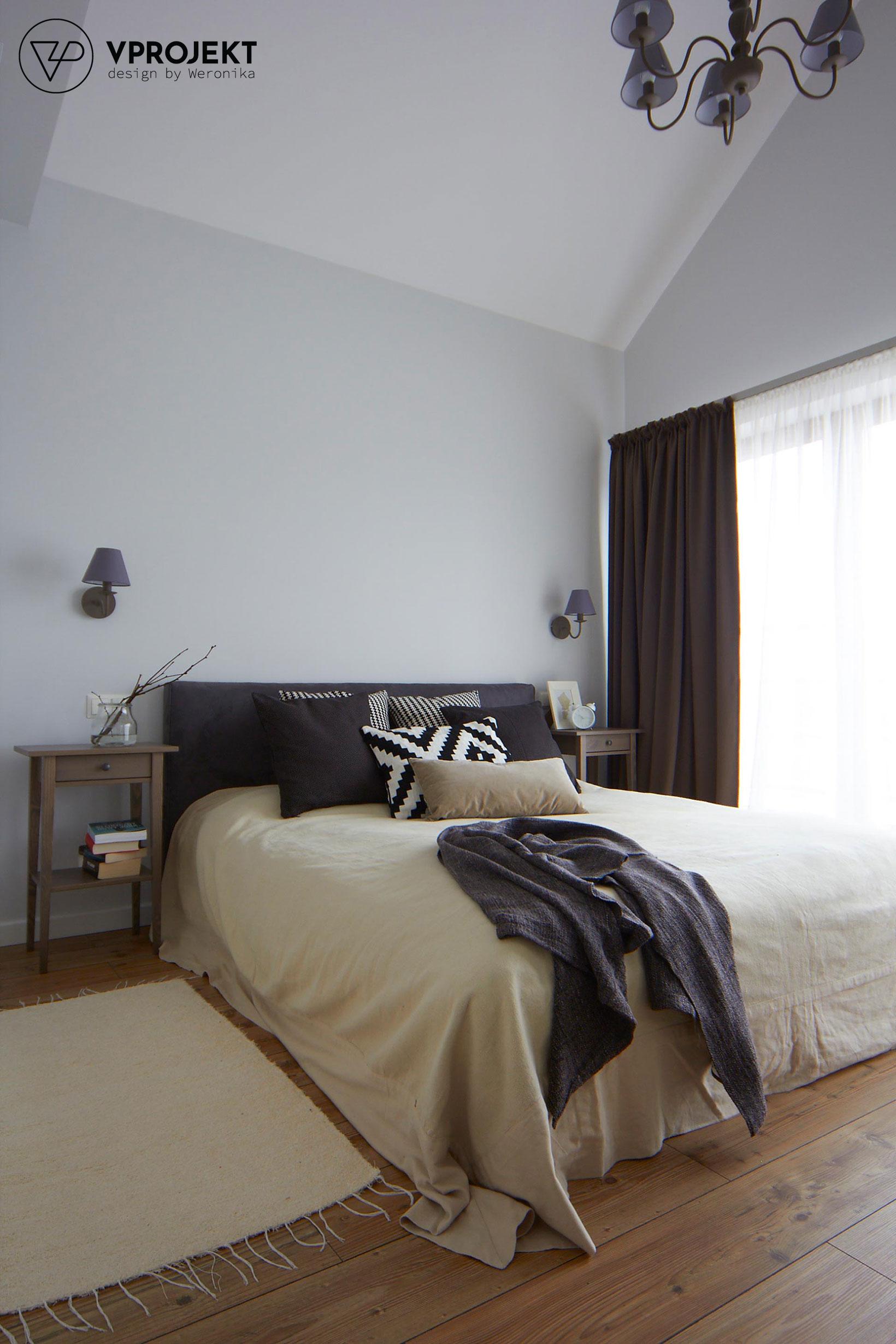 Sypialnia, dom w Bartoszycach
