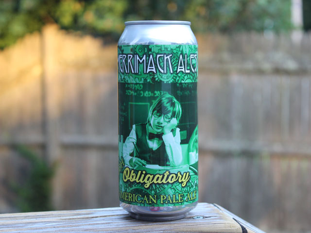 Obligatory, an American Pale Ale brewed by Merrimack Ales