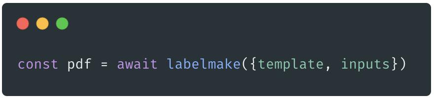 labelmake code