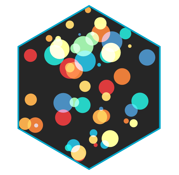 The hexagon that was on the intro slide for the color blending section