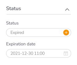 Canto's digital asset status dialogue box