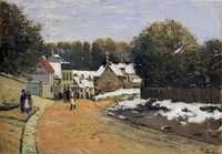 'Early Snow at Louveciennes', painted by Alfred Sisley in c. 1871-1872