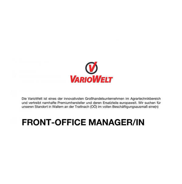 Front-Office Manager/in