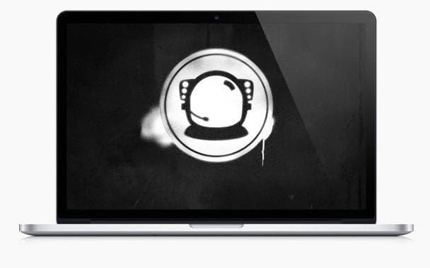 The Astronaut Wallpaper - Stencil Effect Desktop