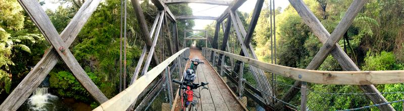 The cycle trail includes several beautiful hanging bridges