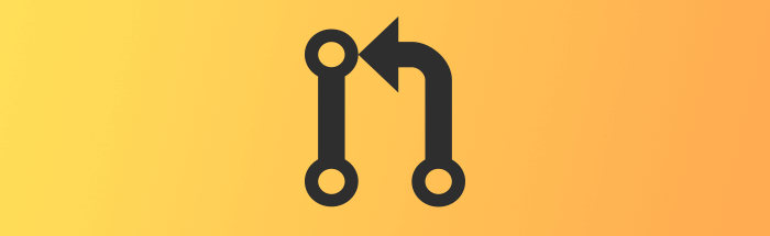 The git merge octicon icon on yellow, orange gradient background