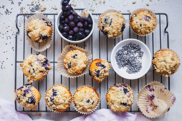 Blueberry Lavender Muffins