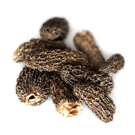 Dried Grey Morel Mushrooms