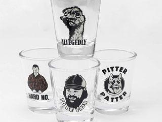 Letterkenny Shot Glasses that are good for drinking Gus n Bru