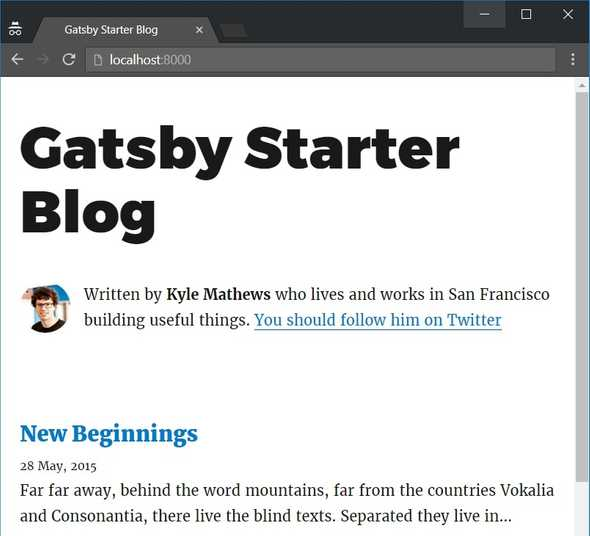 Gatsby Starter Blog