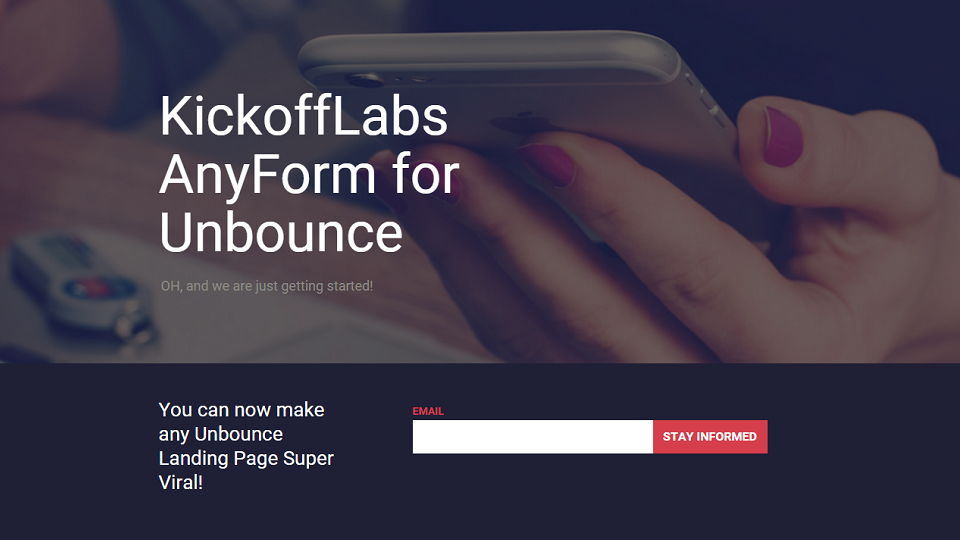 KickoffLabs AnyForm for Unbounce