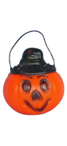 Pumpkin Candy Container w/ Hat photo