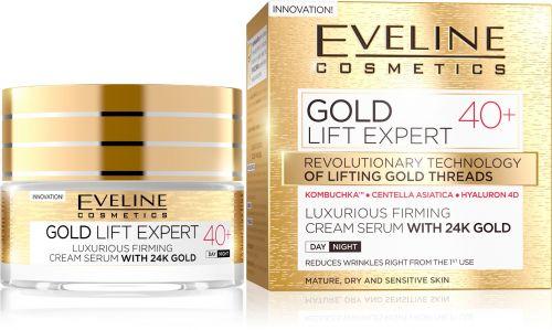 EVELINE GOLD LIFT EXPERT 40+ LUXUS FESZESÍTŐ KRÉM-SZÉRUM NAPPALI-ÉJSZAKAI ARCKRÉM 50ml | Eveline Cosmetics