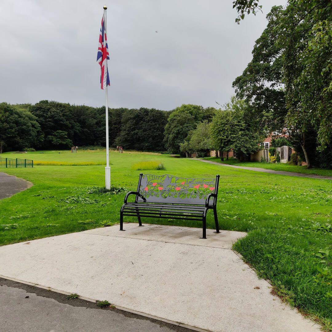 Rodley Park bench