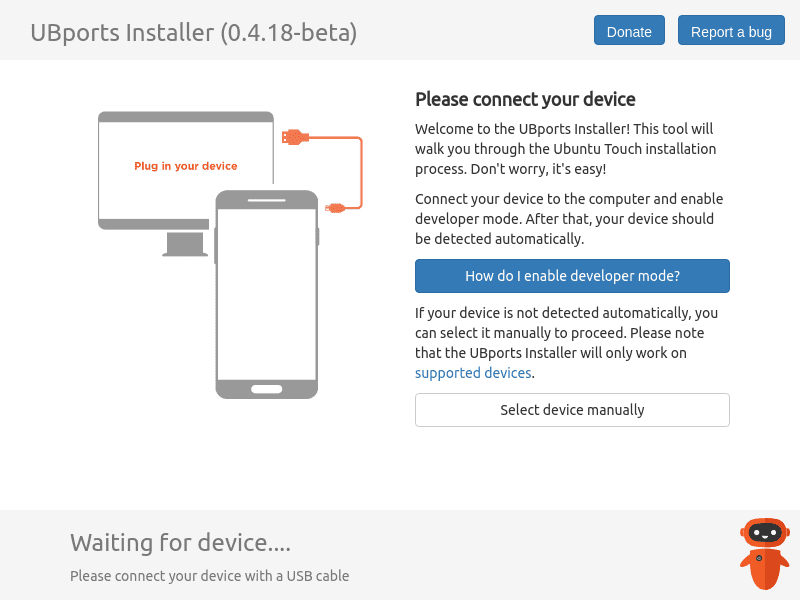 UBports Installer, an installation tool for Ubuntu Touch
