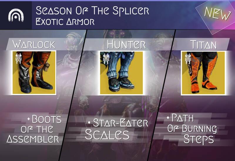 New Season Exotic Armor (Guaranteed)