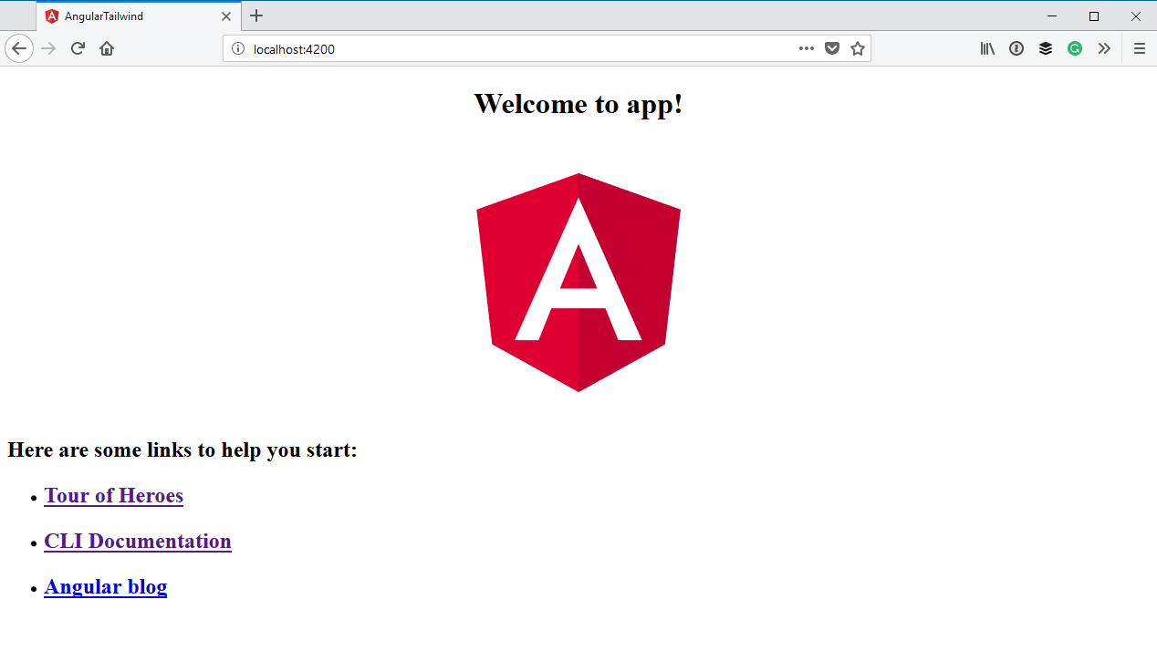 Default Angular application