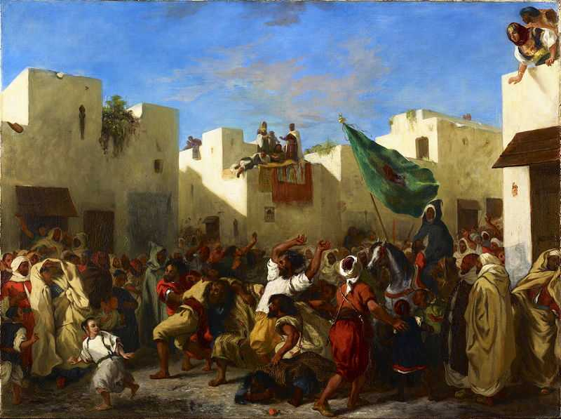 Fanatics of Tangier (1838), painted by Eugene Delacroix, Minneapolis Institute of Art