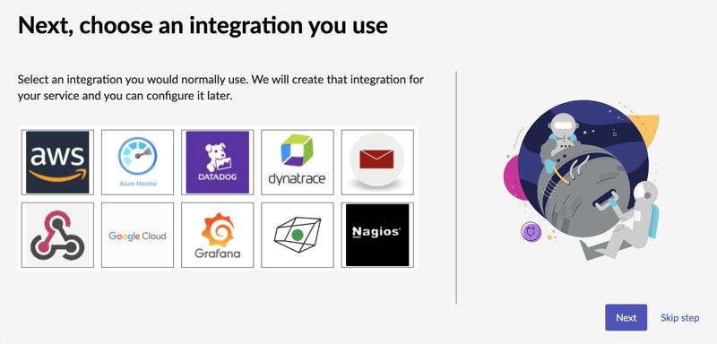 Choose an integration.