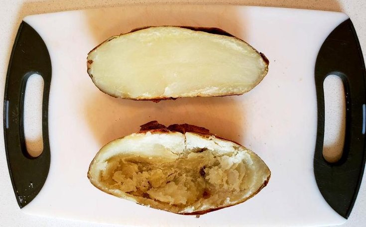 Hollow potato skins