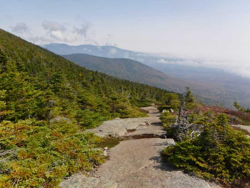 Descending Saddleback Mountain and The Horn