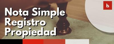 Qué debes tener en cuenta para pedir una nota simple en el registro de la propiedad