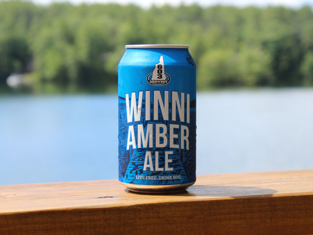 Winni, an amber ale brewed by 603 Brewery