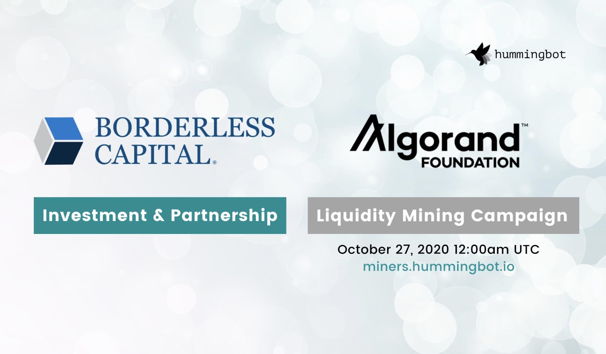 Borderless Capital / Algorand Foundation partnership
